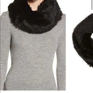 JOCELYN -NWT real rabbit hair infinity scarf - new
